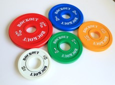 Диски тяжелоатлетические тренировочные малые цветные
